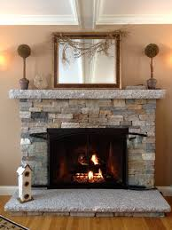 fireplace design plan features cultured stone frames and dark arch