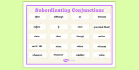 subordinate clauses differentiated activity sheet pack gps