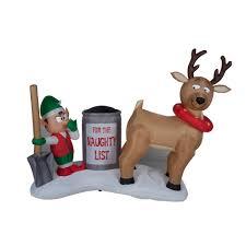 6 u0027 airblown reindeer clean up scene with lights