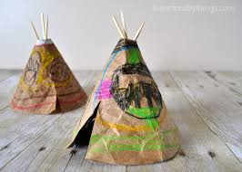 Art And Craft For Kids Of All Ages - diy faux leather teepee craft for kids i heart crafty things