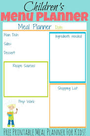 weekly diet planner template best 25 summer meal planning ideas on pinterest meal planning this free printable kid s meal planner will help your child to easily plan out a meal