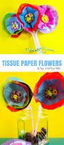 3d tissue paper flower arty crafty kids