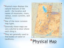 map types different types of maps and how to read them ppt