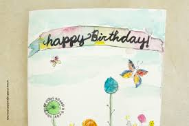 watercolor birthday card craft creative jewish mom