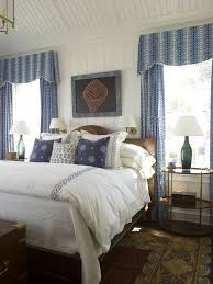 phoebe howard lovely blue cottage bedroom with beadboard vaulted
