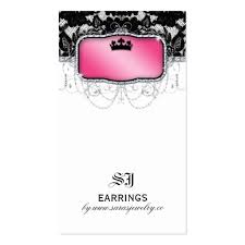 collections of earring card template business cards