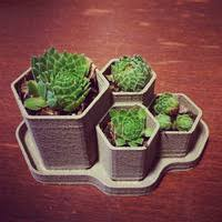 small planter 3d printed hex planter by adam minter pinshape