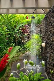 Tropical Gardening Ideas Create An Outdoor Shower For Brightening Up 20 Original Ideas