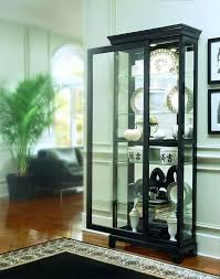 pulaski curio cabinet costco pulaski curio cabinet oxford black two way sliding door curio