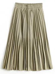 pleated skirts metallic color shiny midi pleated skirt golden skirts m zaful