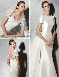 wedding dresses with short sleeves pronovias