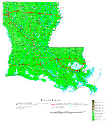 Louisiana vegetaion images Louisiana contour map jpg