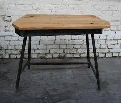 bureau industriel metal bois bureau csj bu004 giani desmet meubles indus bois métal et cuir