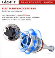 Automotive Led Lights Bulbs by 2x Lasfit H11 H9 H8 Led Headlight Bulb Kit Low Beam Fog Light 72w