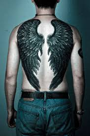 male angel wing tattoos cool tattoos bonbaden