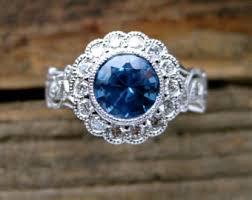 light blue sapphire engagement rings blue sapphire engagement ring in 14k white gold with