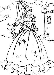 Coloriage Princesse Barbie dessin à imprimer sur COLORIAGES info
