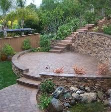 Landscape Ideas For Sloping Backyard Retaining Wall Ideas For Sloped Backyard Yard U0026 Garden Ideas