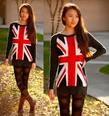 British Flag Boots Michelle Wang Forever 21 British Flag Sweater Strapped Leggings