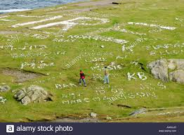 malin head northern names written with stones at malin head in county donegal ireland s