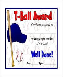t ball certificate template 5 free word pdf documents