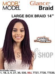 model model crochet hair model model glance large box braid 14 inches