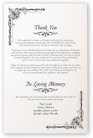 one page wedding program one page wedding program template best and various templates