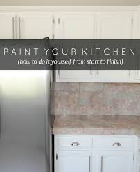 Ideas To Paint Kitchen Running With Scissors How To Paint Your Kitchen Cabinets