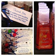 shower thank you gifts baby shower thank you gift different scents of sanitizer