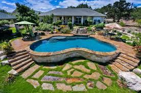impressive 25 backyard pool designs with slides inspiration of