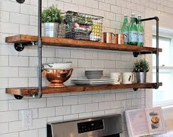 kitchen shelving industrial wall unit 8 deep 24 wide w three