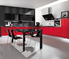 black and red kitchen designs kitchen design red and white