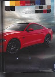 2018 ford mustang order guide has been leaked on the internet 2018