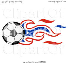 Chilian Flag Clipart Of A Soccer Ball With Chilean Flag Flames Royalty Free