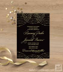 gatsby wedding invitations great gatsby wedding invitation bokeh gold fairy lights black
