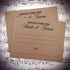 advice cards for and groom wedding advice cards and groom advice cards mr and mrs