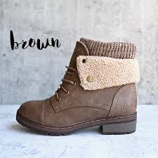 s knit boots canada coolway bring faux leather knit sweater cuff ankle boots shophearts