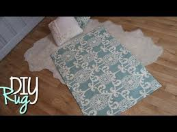Diy Area Rug From Fabric Diy Rugs Easy No Sew Home Decor
