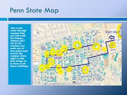 Penn State University Park Map by Collegiate Brn Online
