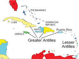 Latin America Physical Map Caribbean And Central America By Trystin Welmon