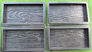 Plastic Pavers by 4 Piece Plastic Concrete Stone Molds Bricks Pavers Venee Tiles