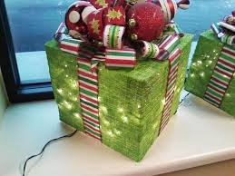lighted gift box decoration thriftyfun