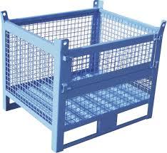 metal crate wire mesh storage stackable airbank srl