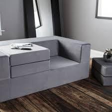 Modular Sleeper Sofa by Jaxx Zipline Modular Sleeper Loveseat Nesting Ottomans Blue
