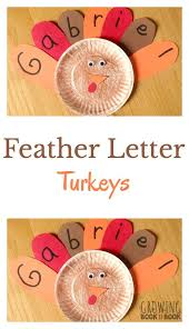 name activities feather letter turkey thanksgiving learning and