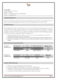 Job Objective On Resume by Excellent Work Experience Professional Chartered Accountant Resume Sa U2026