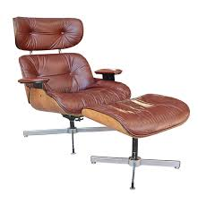mid century modern eames style lounge chair and ottoman by doerner