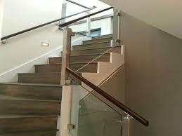 interior contemporary interior stair railings frameless glass