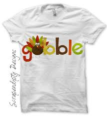thanksgiving tshirt scrapendipity designs gobble iron on transfer pattern