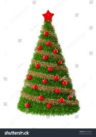 3d christmas tree decorations stock illustration 18025960